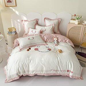 IKITOBI Drap Plat – Draps de lit Coton Polyester, sans Bande élastique, Qualité Hôtelière, Doux et Respirant Lit de 2,0 m de Large
