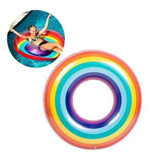 ISHOWTIENDA Bague de baignade Gonflable pour Nager Débutant Pliable Rouler Piscine Piscine Accessoires Pool Flotting Circle