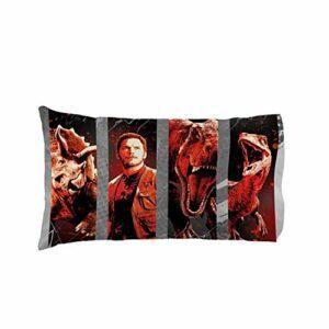 Jurassic 1 taie d'oreiller standard en polyester pour enfant 50,8 x 76,2 cm