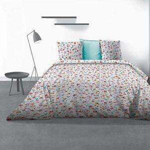 Les Ateliers du Linge Parure de lit Liberty avec Housse de Couette et taie(s) d'oreiller White 240 x 220 cm