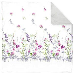 Linnea Housse de Couette 300×240 cm 100% Coton Pretty Blanc
