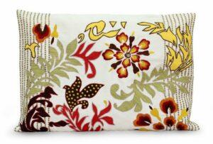 NOVICA Throw Moderne Polyester Taie d'oreiller, des Fleurs exubérantes Multicolore