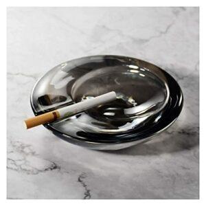 NZKW Aschenbecher High-End Kristallglas Aschenbecher Handgefertigt Minimalistisch Runde Trendy Aschenbecher, Home Office Dekoration für Männer Raucher Aschenbecher (Color : Grey, Size :
