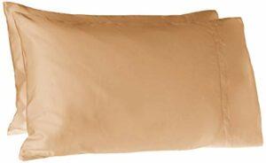 Pointehaven 620Fils Coton Longues Fibres Paire de taies d'oreiller, Standard, café glacé