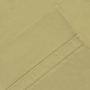 Pointehaven 620-kpcbn 620tc Longues Fibres Coton Paire de taies d'oreiller, OS, King