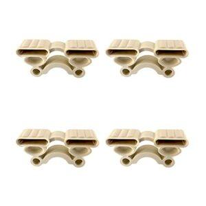 SeBS – Kit de 4 supports amortisseurs porte-lattes à 2 places en caoutchouc pour sommier à lattes de 38 mm