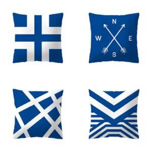 SHOWWE Lot de 4 taies d'oreiller modernes décoratives douces et confortables pour canapé, salon, chambre (F2)