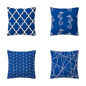SHOWWE Lot de 4 taies d'oreiller modernes décoratives pour salon, chambre à coucher (C2)