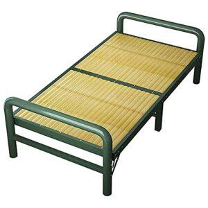 SHUILV Lit Simple de Rechange, Lit de Visiteur à la Maison Heavy Metal Lit Cadre, The Piscine Jardin Chaises Longues Cool Bamboo Lit, Terrasse Lit de Camping en Plein air (Size : 192 * 120956.5)