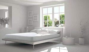 Softness Protège Matelas Alèse 100% Coton Molleton Double Face Grands Bonnets 30 cm Fabrication Européenne (180_x_200_cm)