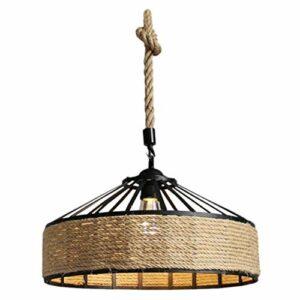 SOLUSTRE Abat- Jour pour Lampe de Table, 1pc Abat- Jour de Lampe de Couverture de Lustre de Corde de Pays américain pour Le Bar de café de Restaurant