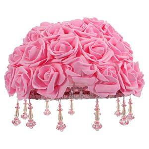SOLUSTRE Abat- Jour pour Lampe de Table, 1pc Rose Modeling Desktop Tableau d' Abat- Jour Décor Creative Lampe Couverture Couverture d' Abat- Jour Ornement