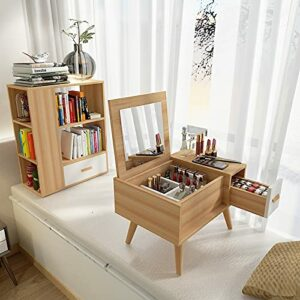 SUNTAOWAN Table de Table créative Miroir Table de Coiffeuse Simple Chambre Moderne Tableau de Nuit Tableau de Maquillage (Color : Light Grey)
