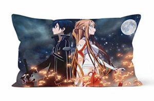 Taie d'oreiller Sword Art Online Cadeau de 50cmx75cm, Douce et Confortable