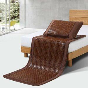 Tapis de lit en bambou Matelas cool, bambou literie tapis d'été mates couchages de couchage lit-tapis pliable dortoir chambre maison chambre multifonction, sièges de mahjong (Size : 1.8×2.0m)