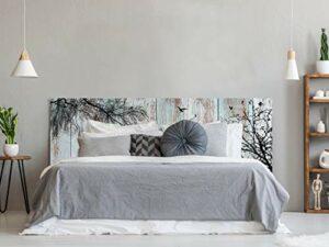 Tête de lit en PVC Impression numérique Branches 200 x 60 cm Tête de lit Originale et économique