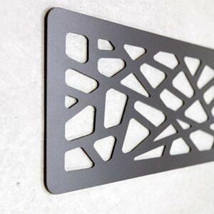 Tête de lit PVC 10 mm 3D décorative économique. Greece (200 cm x 60 cm, noir)