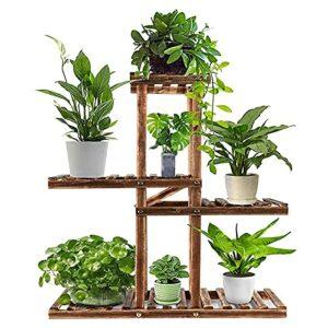 TUHFG Stand de Fleurs, Support pour Plantes D'intérieur et D'extérieur, Étagère de Jardin à 4 Couches, Bonsaï Stand Salon Jardin Coin Cour Balcon