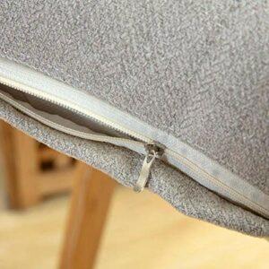 Uxsiya Taie d'oreiller avec fermeture éclair dissimulée, couleur pure confortable pour chambre à coucher (gris)