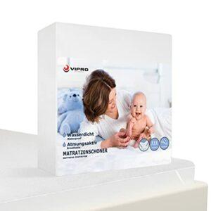 Vipro Group Protège-matelas imperméable avec élastiques – Tapis de protection sur le lit – Housse d'incontinence – Sous le drap – Anti-allergique imperméable – Respirant (160 x 200 cm)