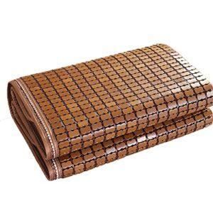 WggWy Tapis d'été en bambou – Pliant – Tapis de refroidissement pour majong – Matelas en bambou carbonisé lisse et lavable – Marron – 150 cm