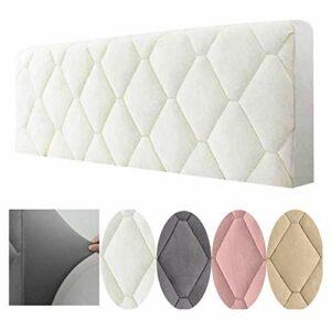 WYJHNL Housse de tête de lit matelassée pour lit double/simple avec housse élastique de protection de couleur unie