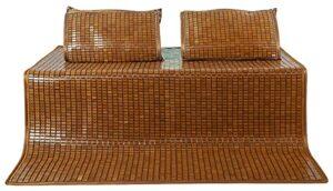 Xbswhm Matelas en Rotin de Matelas de Refroidissement D'été De Lit de Tapis de Bambou, Literie D'été de Dessus de Lit pour Le Lit Double Simple de Taille De Reine,180cm*200cm(5.9ft*6.5ft)