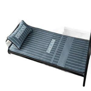 ZDBBY Tapis de Soie d'été à Glace pour dortoir d'étudiant Unique, sièges climatisés, lit superposé Lavable, Tapis de Soie de Glace, Tapis d'été