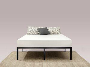 Zinus Cadre de lit à plateforme métallique classique avec support de lattes en acier Yelena 35,6 cm/ Support de matelas/ Pas besoin de sommier/ Lit prêt à l'emploi/ Montage facile/ 140 x 190 cm