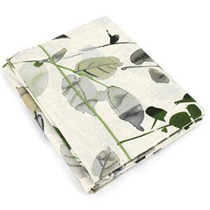 Linnea Drap Plat 240×310 cm 100% Coton FEUILLAGES Vert Anis