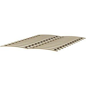 ADGO Sommier à lattes flexible en 12 bandes de bouleau, à monter soi-même, convient pour tous les matelas, avec 12 lattes en bois, équipement de lit (140 x 200 cm)