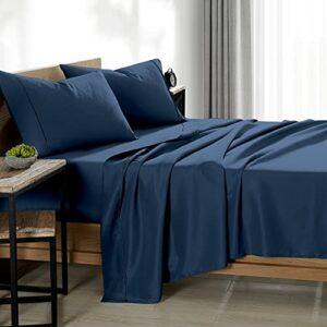 Bare Home Parure de lit super king size – 1800 draps de lit en microfibre ultra-douce – Parure de lit double brossée respirante – Hypoallergénique – Infroissable – Poche profonde (Super King