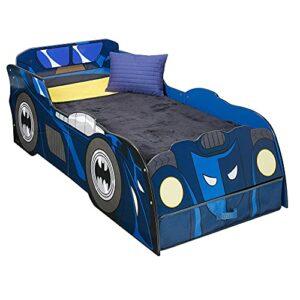 Batman Batmobile-Lit Lumineux pour Enfants avec Rangement, Bleu, 158(L) x 73(W) x 54(H) cm