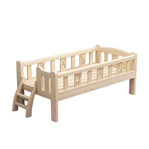 Cadre Cadre de lit en Bois pour Enfant, Cadre de lit Simple Solide et Durable avec escalier, Cadre de lit de sécurité antidérapant pour école/Maison/Jardin d'enfants