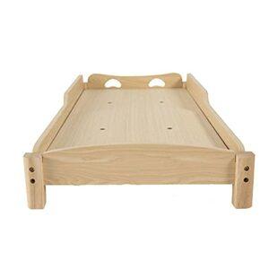 Cadre Cadre de lit en Bois pour Enfants, Cadre de lit Simple antidérapant Durable pour la Sieste, Cadre de lit de Maternelle/Classe d'éducation préscolaire/Maternelle(Size:128x58x20cm)