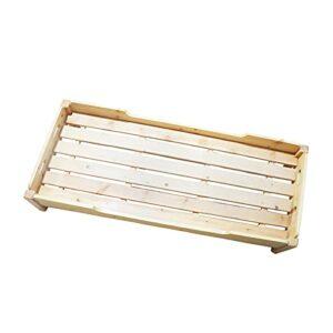 Cadre Cadre de lit surélevé en Bois, Cadre de lit Simple antidérapant Durable pour la Sieste, Cadre de lit de Maternelle/Classe d'éducation préscolaire/Maternelle