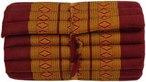 Fine Asianliving Matelas Thaï Enroulable en Coton et Kapok – 50x190cm – Orange Matelas Tapis de méditation Coussin thaï Kapok 301-P10