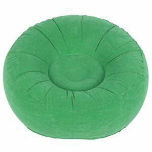 Gaeirt Chaise de Sac de Haricots Ultra Douce, Chaise de canapé Simple floquée conçue Ergonomique de Vie intéressante pour la Cour extérieure Camping voyageant pour Le Salon Balcon Jardin(Vert Clair)