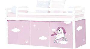 HLS Tente licorne pour lit mi-hauteur