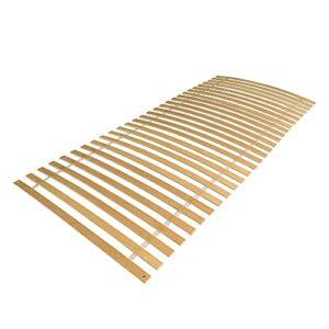 Hoplugge Sommier à lattes déroulables en bois de bouleau 100 x 200 cm – Confort stable avec 28 lattes – Sommier avec 6 trous pré-percés pour lit simple