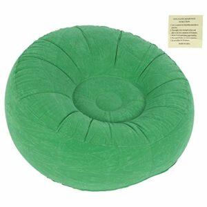 Jopwkuin Chaise de canapé Simple floquée, canapé Pliable Gonflable Chaise de Sac de Haricots Ultra Douce conçue Ergonomique pour Le Jardin de Balcon pour Le Jardin de Balcon de Salon(Vert Clair)