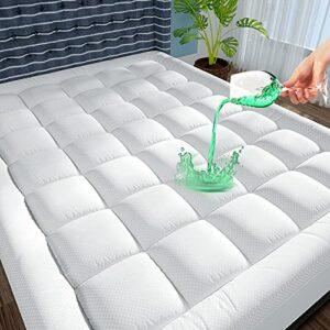 JTE Protège-matelas imperméable pour lit queen size avec rembourrage alternatif en coton rafraîchissant