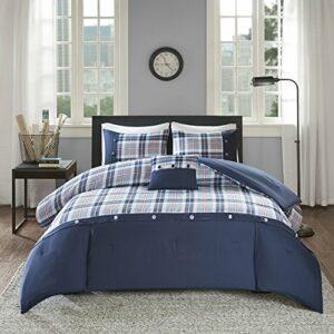 Les espaces Confort–3/4pièces–Idéal pour College Dormitory, séjour dans, Microfibre, bleu, Twin/Twin XL