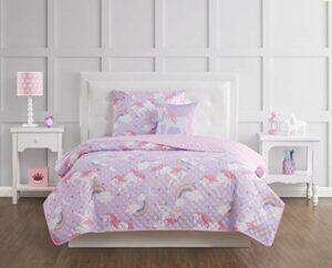 My World Parure de lit pour Enfant, Face et Dos 100 % Microfibre avec garnissage 100 % Polyester., Licorne Arc-en-Ciel., Entier