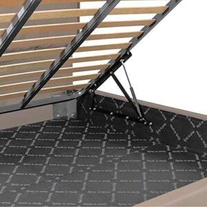 P17 | Sommier à sommier tapissier | Mécanisme de levage pour lit double | Kit complet : 2 lattes + 2 pistons + 4 clips + vis de montage.