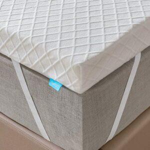 RECCI Surmatelas 6 cm, sur-matelas pour soulager la pression, avec revêtement hypoallergénique en bambou, amovible et lavable, certifié EU (180 x 200 x 6 cm)