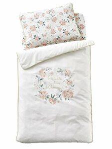 Vertbaudet Housse de Couette bébé Eau DE Rose Oeko-Tex® écru/Rose 80X120