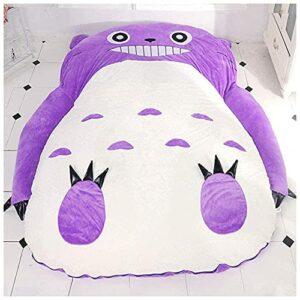 YSDQ Mon Voisin Totoro Tatami Matelas, Peluche Poupe Canap Lit Double Mousse Pouf Cartoon Matelas Coussin Cadeau de Nol pour lit Tatami pour Enfants, Violet