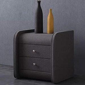 YY Cabinet de chevet contemporain de tissu contemporain nordique est contracté Contenu Contenu Ark Tenue entières reçoit une petite table créative Ark (Color : Dark Gray)