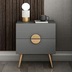 YY Italien Minimaliste Table de chevet Chambre à coucher Petit appartement Nordic Light Style de luxe Simple Post-moderne Storage Ca (Color : Moon Bedside Table, Size : Assembly)